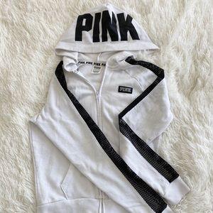 White Fishnet Sleeve Jacket
